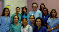 Dr. Shapiro (middle) and his staff